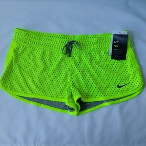 Nike dri-fit yellow mesh shorts